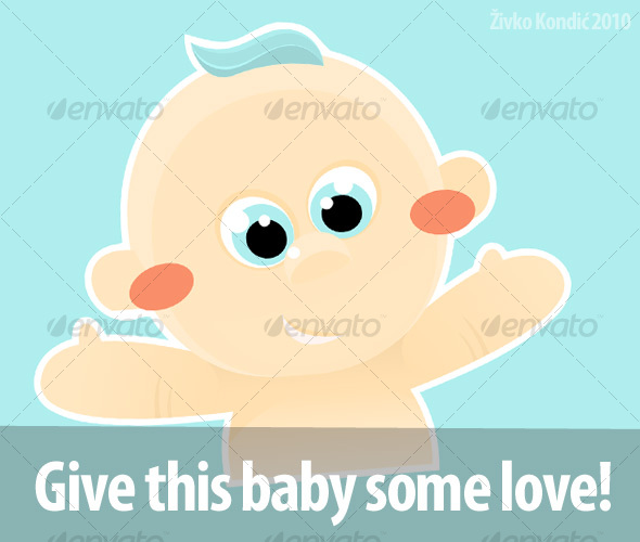 cutest little baby vector